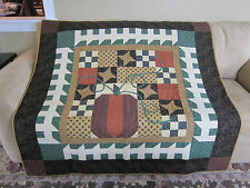 GORGEOUS Handmade Thimbleberries Finished Pumpkin Fall Quilted Quilt 57 x 57