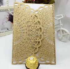 24PCS Laser cut wedding invitations rustic cards wedding/party Suppiles #2