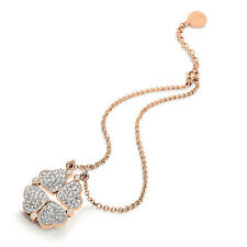 Folli Follie Heart 4 Heart Pink Gold Necklace (3N0T013RC) RRP £95