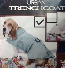 Doggiduds Pet Apparel Urban Trench-coat Outerwear Turquoise Large Fleece Lined