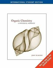 Organic Chemistry: A Biological Approach, Good Condition Book, McMurry, John E.,