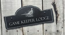 Personalised Rustic Slate Engraved House Sign Address Bridge Shabby Chic Plaque