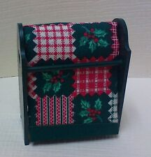 Dollhouse miniature 1:12 Handcrafted painted wood quilt rack w/ Christmas quilt