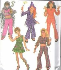 Simplicity 9944 Girls7-14 Halloween Costume Hippie Geni Uncut Top Pant Hat Devil