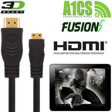 A1CS Fusion5, Xtra, X220 tablette android mini hdmi à hdmi tv cordon câble 2,5 m
