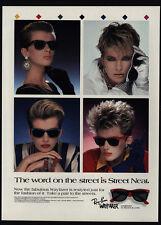 1988 RAY-BAN Retro 80's WAYFARER Sunglasses & Hair Styles VINTAGE ADVERTISEMENT