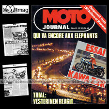 MOTO JOURNAL N°401 MONTESA CAPPRA 250 VE BMW 800 GS R80 ENDURO KAWASAKI Z2R '79