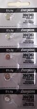 5 Pcs Energizer 364 SR621SW Watch Button Battery