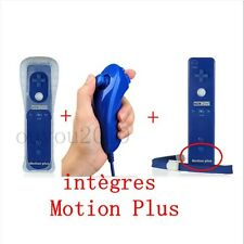 AZUL Built-in Motion Plus Wiimote Remote Controller + Nunchuck For Wii New NUEVO