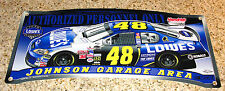 "JIMMIE JOHNSON #48 LOWE'S RACING NASCAR GARAGE AREA SIGN WINCRAFT USA 19""X 8 """
