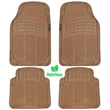 Motor Trend Car Floor Mats Heavy Duty Rubber Eco Friendly in Beige Odorless