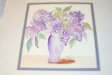 Original Watercolor LILAC PRINT Picture Frame Artist Sign Wedding