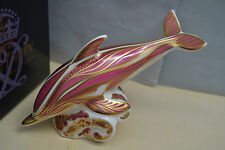 """Royal Crown Derby Paperweight """"PINK DOLPHIN"""" L.ED150 Excl Fletcher Collectables"""