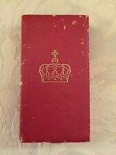NORWAY ROYAL COURT MEDAL PRESENTATION CASE EMPTY BOX - HOUSEHOLD MEDAL
