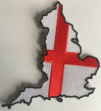 ENGLAND FLAG MAP PATCH Iron/sew on patch England Map StGeorge flag badge