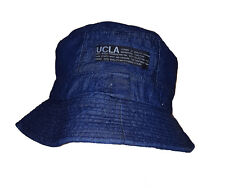 Cool High Quality Double layer Denim bucket hat Blue