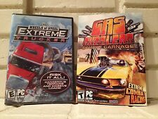 extreme trucker + gas guzzlers - 2 action adventure racing computer games - new