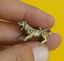 MAGIC TIGER Talisman Thai Amulet Brass Magic Holy Wealth Lucky Money Rich Luck