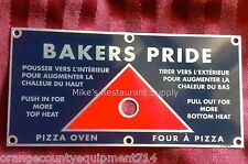 NEW Bakers Pride Pizza Oven Heat Disbursement Slide Rod Plate #1320 Emblem Metal