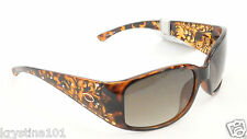 OSCAR DE LA RENTA 1195 BROWN GOLD CRYSTAL LOGO SHADES WOMEN OSCAR SUNGLASSES NEW