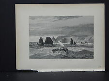 Full Page Engraving, C.1872 S3#09 Scene at Mouth of Russian River, California