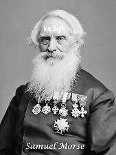 Samuel Morse *  Large 13 x 19  High Quality Print * Morse Code * CW