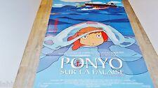 hayao miyazaki  PONYO SUR LA FALAISE  !  affiche manga , japon bd dessin