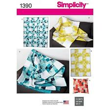 SIMPLICITY SEWING PATTERN WONKY NINE PATCH QUILT LAP QUILT PILLOW 1390 DIS