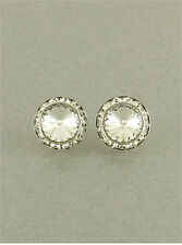 Fashion Crystal Clear Stud Round New Chic Earrings Made With Swarovski Elements