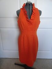 Just Taylor Orange Ruffle Dress