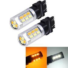 2 PCS T25-3157 6W 22 SMD-5730-LEDs White + Yellow Light Brake Light Turn Light,