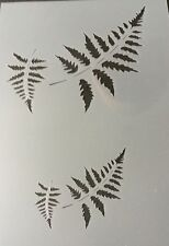 Fern Leafs Mylar Reusable Stencil Airbrush Painting Art Craft DIY