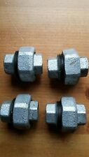 """Malleable iron pipe fittings galvanised 1/2"""" unions female to female 4 in total"""