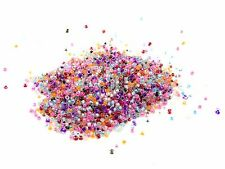 30g x 2mm Clear with Inside Colour Random Mix Glass Seed Beads 11/0 size P124