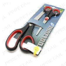2 x SOFT GRIP ★Small & Large★ SCISSOR SET Craft Work Hobbyist Short/Long Blade