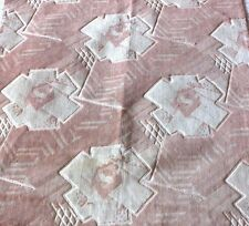 """Antique Vintage French Silk Art Deco Cut Velvet Fabric Textile c1920~28""""LX23""""W"""