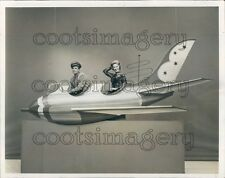 1958 Singer Dinah Shore in Space Ship Prop For 1950s TV Show Press Photo