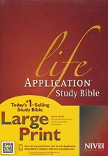 NIV Life Application Study Bible NIV Large Print, Hardcover Indexed