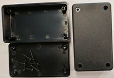 Black ABS Plastic Electronic Project Box Enclosure case 3.5 x 2 x 1 x2 USA small