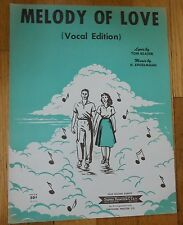 Melody of Love (Vocal Edition) Sheet Music 1954