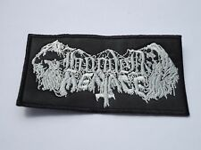 HOODED MENACE LOGO DEATH DOOM METAL EMBROIDERED PATCH