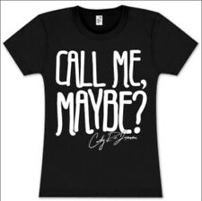Call Me Maybe Women's Black Fitted T-shirt Med Hot Topic Carly Rae Jepsen New