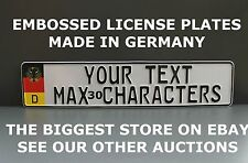 Germany Flag Number Plate German License Plate Euro Custom  Text in Two Lines