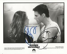 "Tom Cruise & E. beart ""mission impossible"" autógrafo signed 20x25 cm imagen S/W"