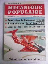 Mécanique Populaire n° 197 oct 1962 Plein feu sur la VOLVO 122 S