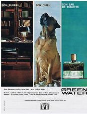 PUBLICITE ADVERTISING 044 1964 GREEN WATER Jacquues Fath eau de toilette