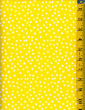 Lots of Dots White on Yellow cotton quilt fabric Timeless Treasures  BTY