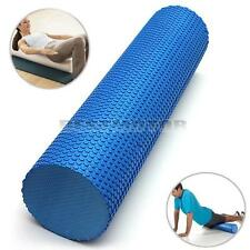 60x15cm BLUE EVA PHYSIO FOAM ROLLER YOGA PILATES EXERCISE BACK HOME GYM MASSAGE