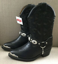 Dingo Black Western Childrens Boots Size 10 D Style DIC2200 NEW with tags