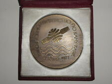 1977 Canoeing World Championship Rowing Participant desk medal plaque with CASE
